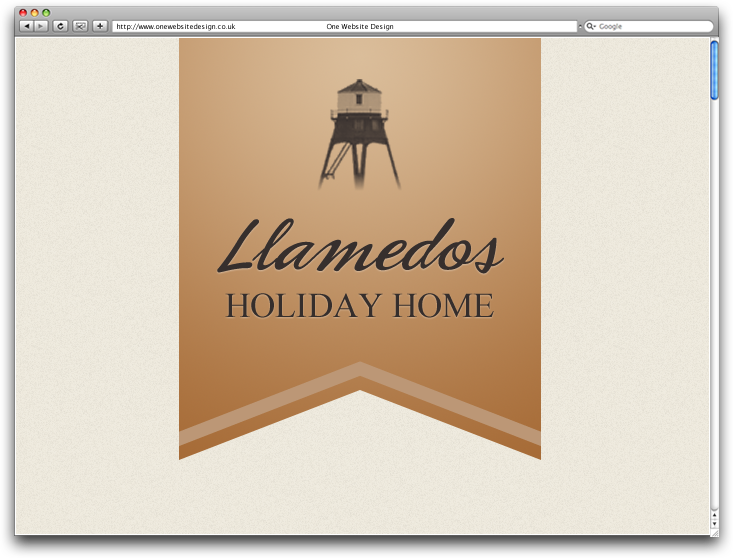 LLamedos Holiday Home logo by One Website Design, Essex