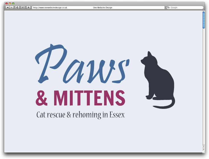 Logo design for Paws & Mittens