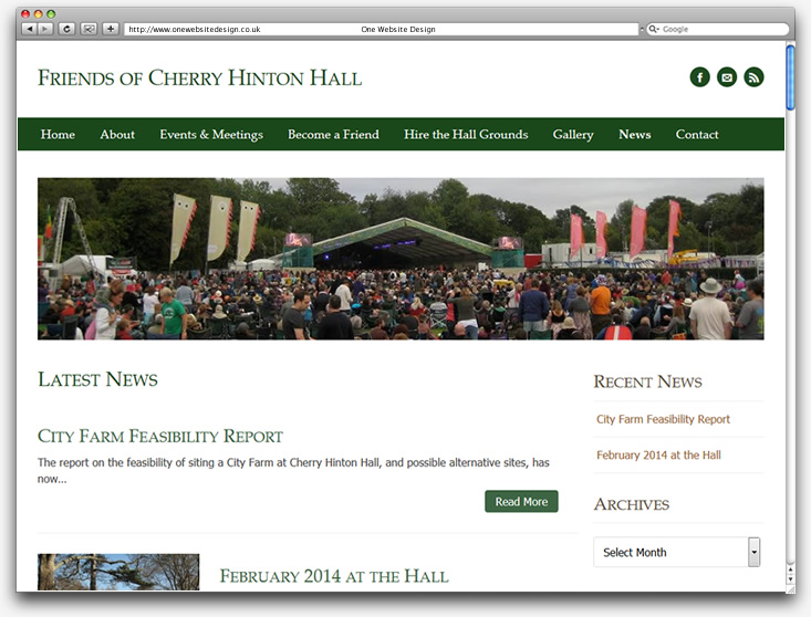 Friends of Cherry Hinton Hall website news page