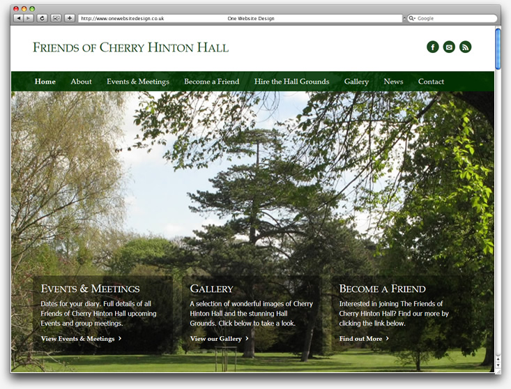 Friends of Cherry Hinton Hall website design